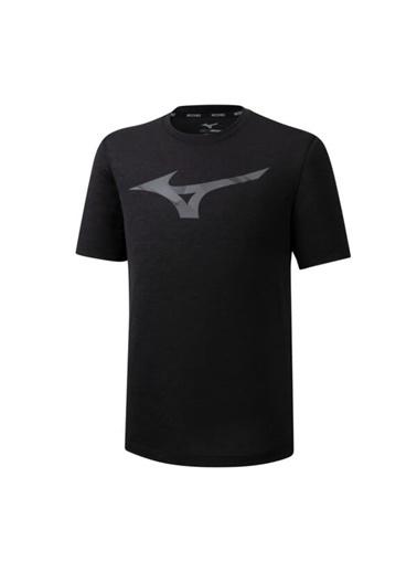 Mizuno Core Rb Graphic Tee Erkek T-Shirt Siyah Siyah